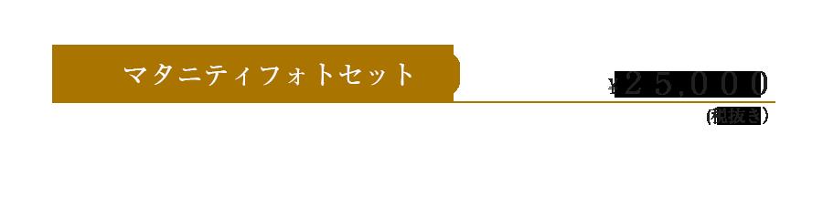 金額25000円マタニティフォト